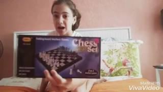 Обзор на шахматы,шашки и нарды||игра||шахматы||шашки||нарды||открываю||распаковка