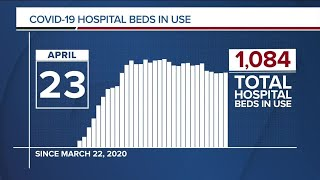 GRAPH: COVID-19 hospital beds in use as of April 23, 2020