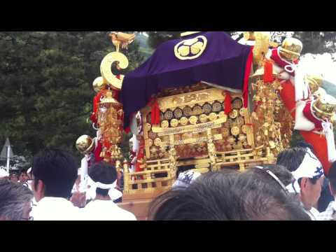 Kyoto parade prep ... mobile shrines are so heavy :)