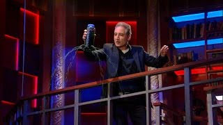 Theoretical Physicist Brian Greene explains how the universe works using a water bottle and disco music.