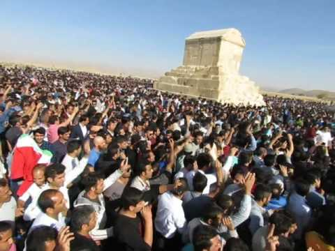 Shiraz, Iran Thousands gathers to commemorate the Cyrus the Great