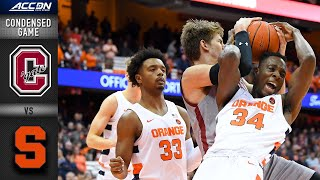 Colgate vs. Syracuse Condensed Game | 2019-20 ACC Men's Basketball