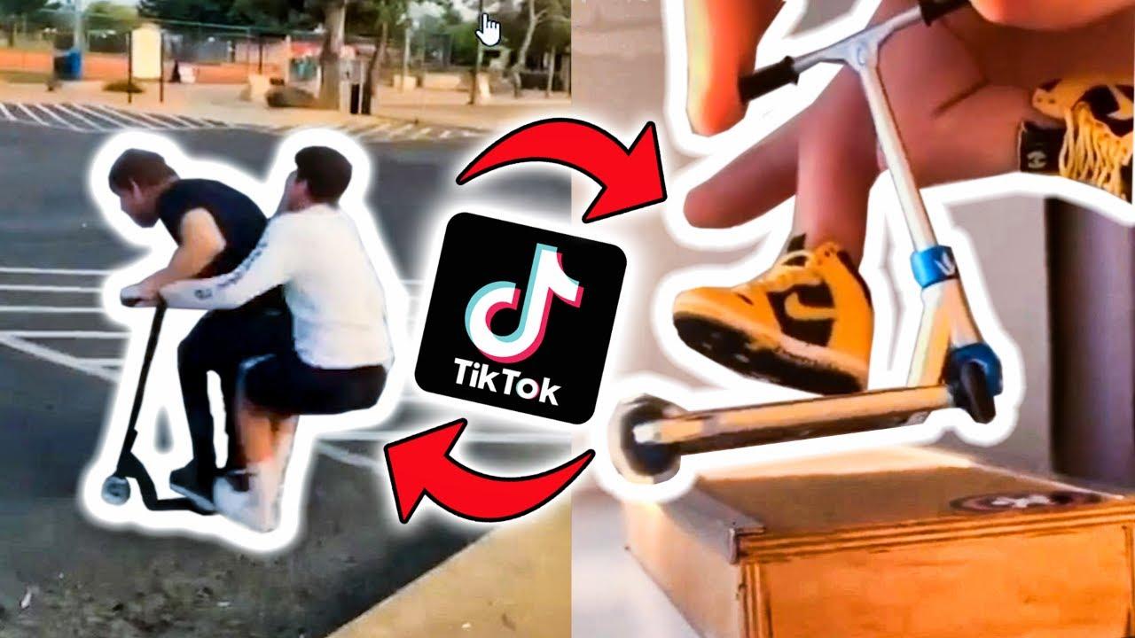 ТИК ТОК vs САМОКАТ - Трюки на Самокате в ТИКТОК