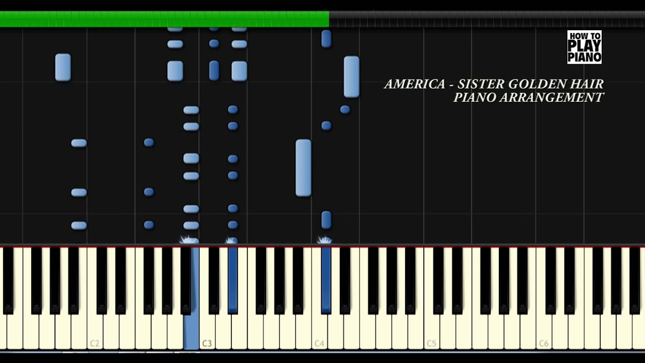 america-sister-golden-hair-synthesia-piano-cover-how-to-play-piano