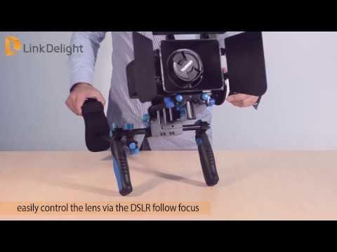 Linkdelight.com-DSLR Shoulder Rig Movie Kit Mount Installation