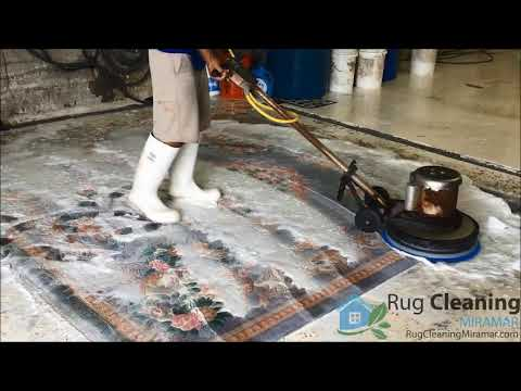 Miramar Oriental Rug Cleaning - YouTube
