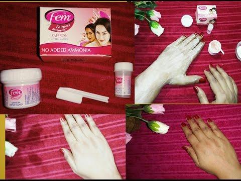 Fem fairness Naturel saffron Bleach Review ll How to apply Fem bleach at home ll Bleach Good or Bad