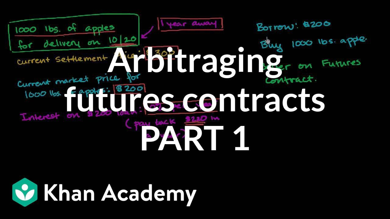 Arbitraging futures contract (video) | Khan Academy