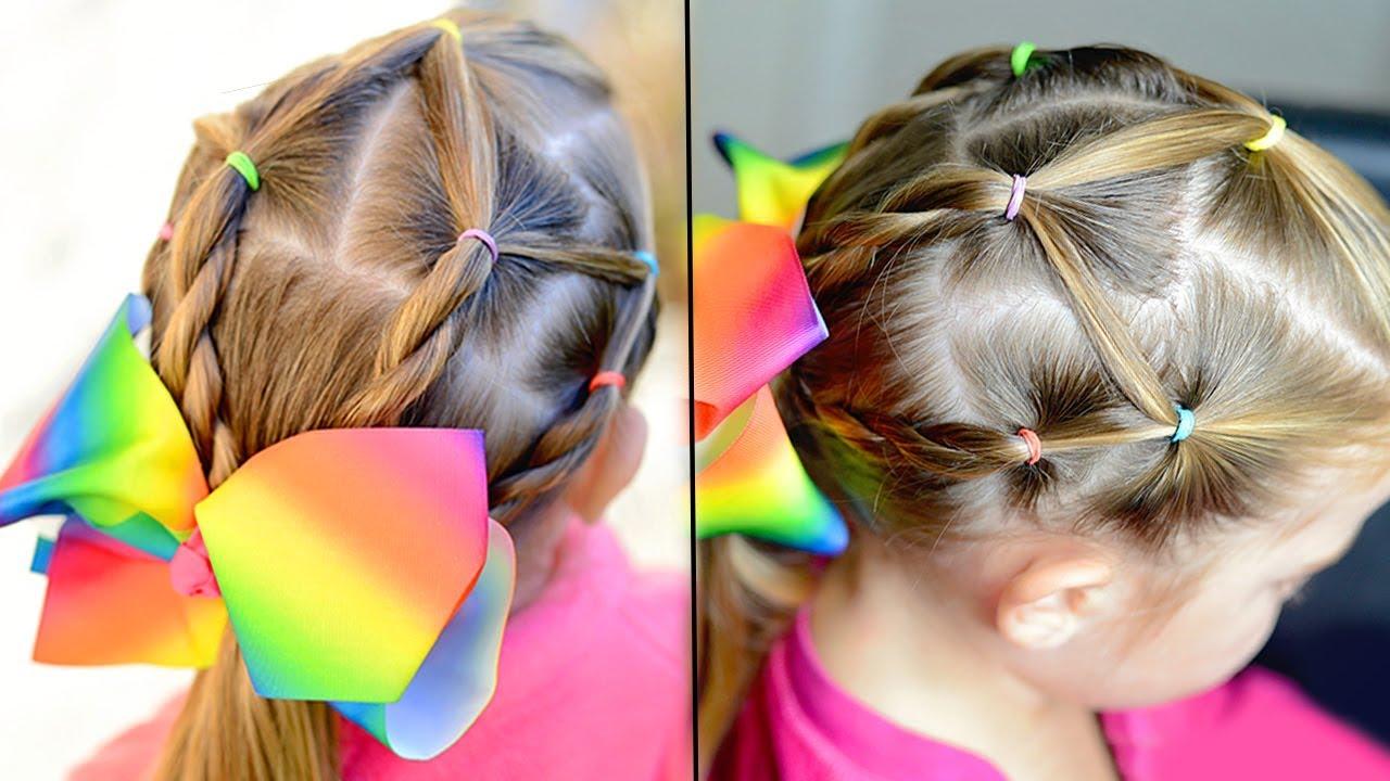 easy elastic hairstyle girls