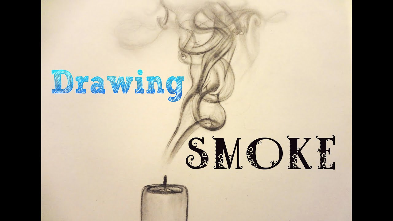 How to draw smoke with a pencil