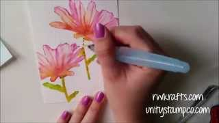 Quick Tip - Watercolor with Rubber Stamps