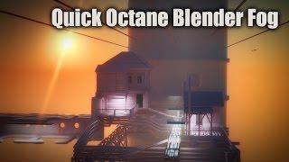 Octane Blender Fog Volumetric (1 MIN TUTORIAL)
