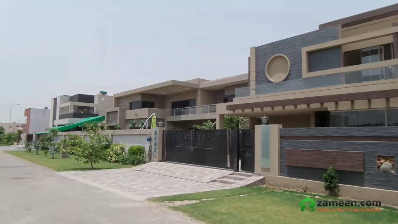 Front Elevation 1 Kanal : Stylish kanal house for sale in dha phase lahore youtube