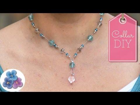 f40556899af2 Como Hacer un Collar de Cristales Flotantes DIY Collares de Moda Pintura  Facil