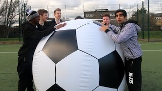 One of Vikkstar123's most viewed videos: SIDEMEN GIANT FOOTBALL CHALLENGE!