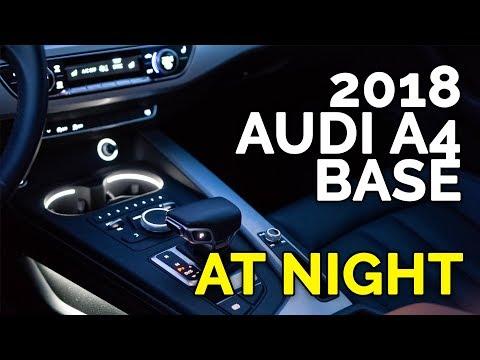 2018 AUDI A4 BASE (PREMIUM / KOMFORT) LIGHTS AT NIGHT