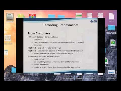 QB Power Hour - Recording Prepayments in QuickBooks (Pro, Premier and Online)