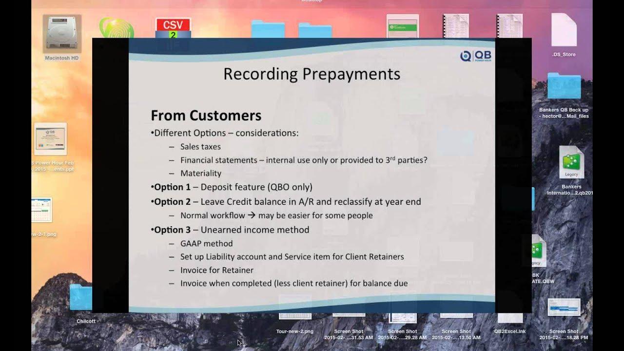 Pre-Payments in QB Online & Vendor Pre-Payments in QB Desktop
