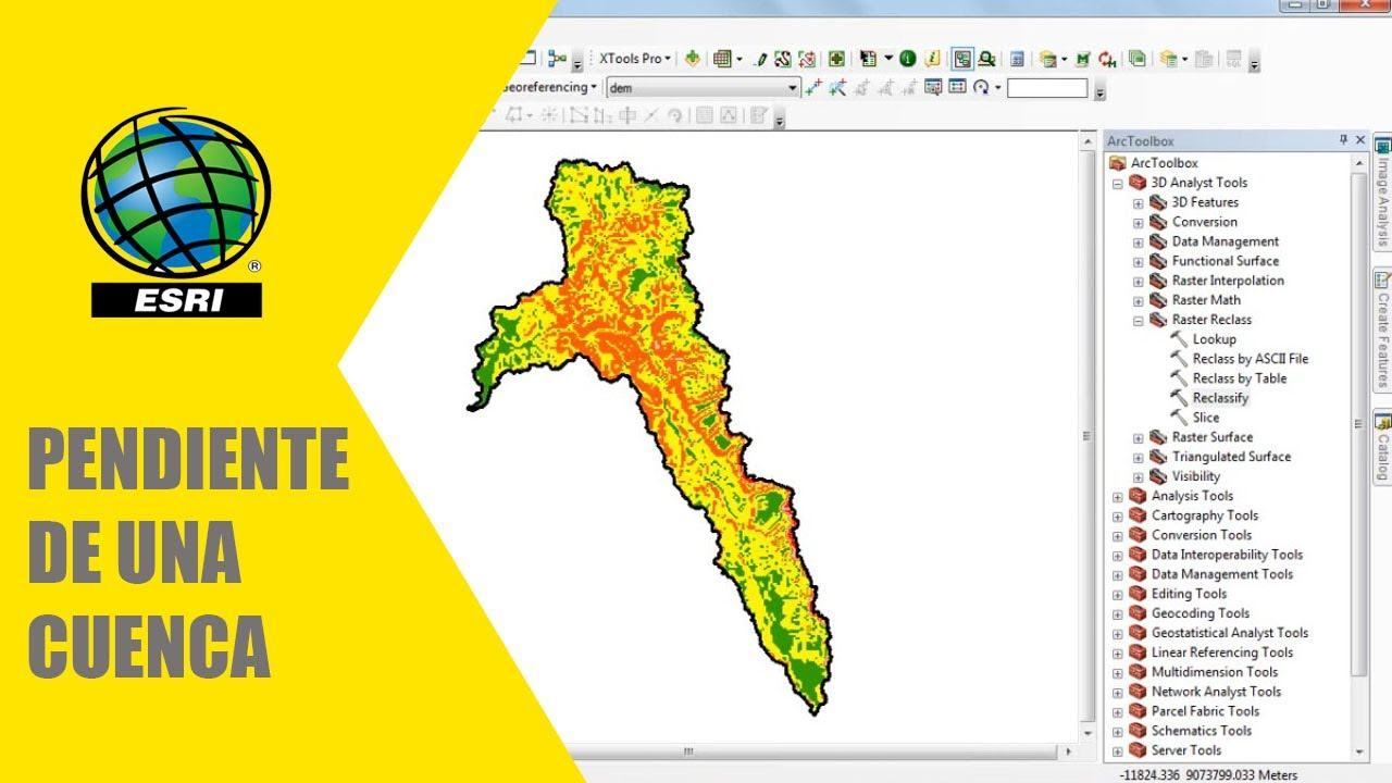 Como hacer un mapa de pendiente para una cuenca