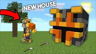 MC NAVEED BUILDING MY OWN SECRET HOUSE / DON'T GO INSIDE THIS HOUSE !! Minecraft