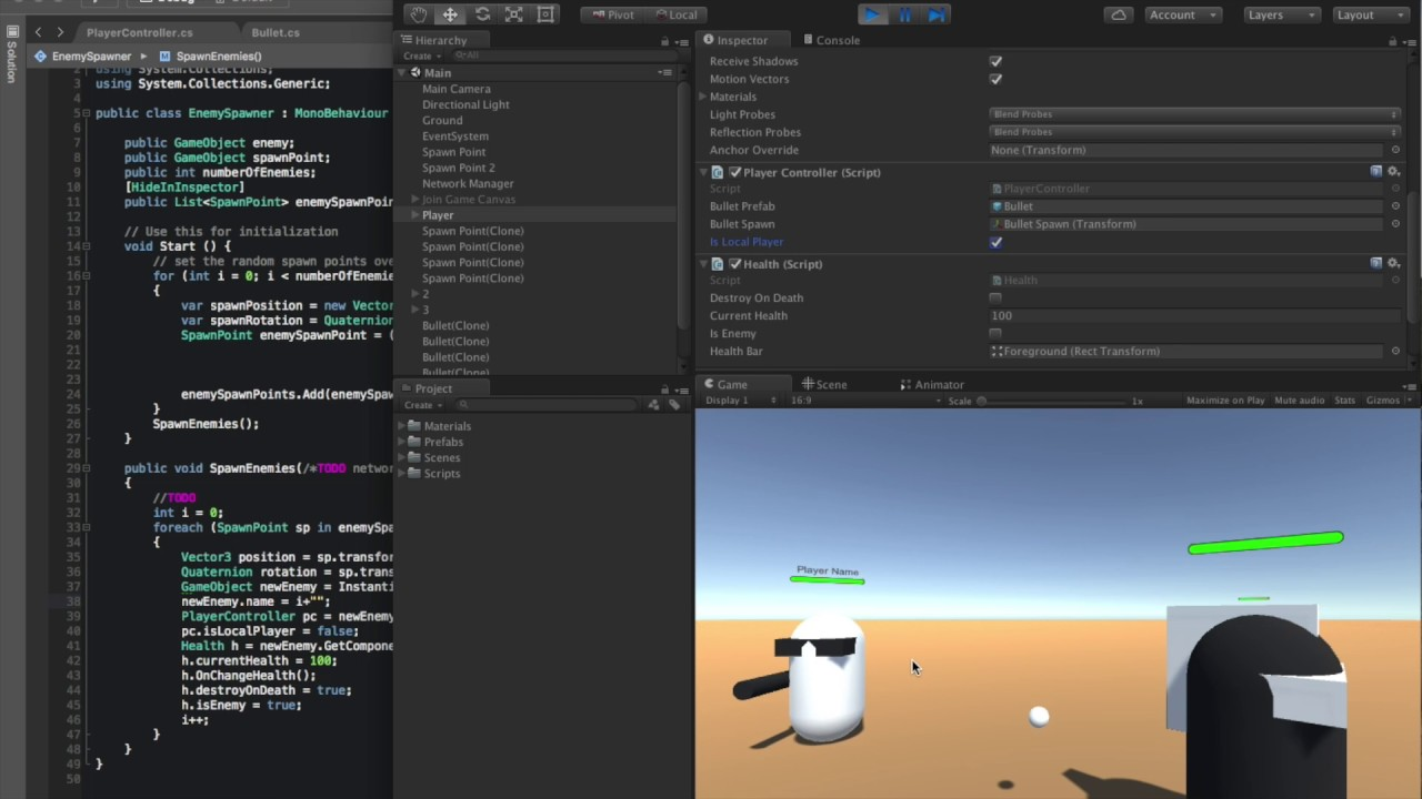 Unity 5 Multiplayer Networking Node JS socket io Pt7 by Adam Carnagey