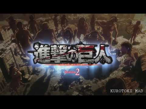 Attack on Titan Season 2 Opening - Shinzou wo Sasageyo but it has SFX