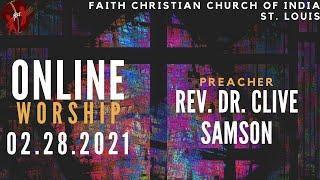 FCCIndia Live Worship 03/07/2020   FCCI St. Louis