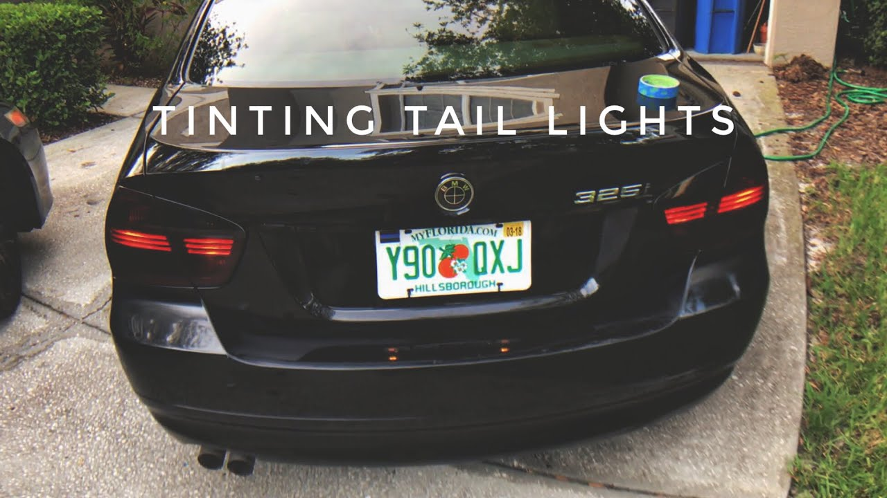 7d53ddef685 Tinting BMW Tail Lights! - YouTube
