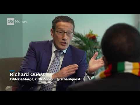Emmerson Mnangagwa on CNN money with Richard Quest