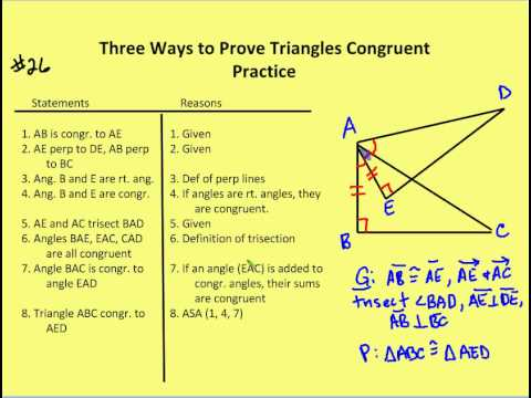3 2 Three Ways To Prove Triangles Congruent Lesson Youtube