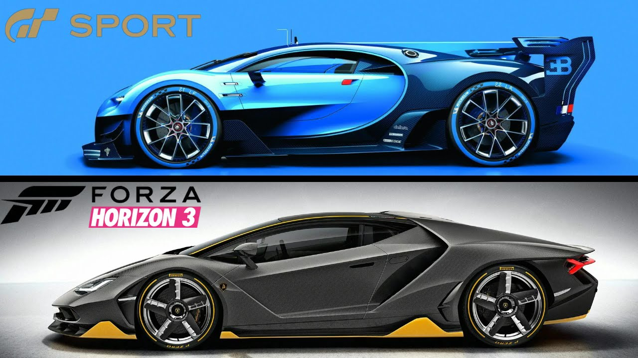 forza horizon 3 vs gran turismo sport which racing game wins youtube. Black Bedroom Furniture Sets. Home Design Ideas