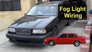 Volvo 850, S70, V70, XC70 Fog light wiring storage spot, pre wired - Auto Information Series