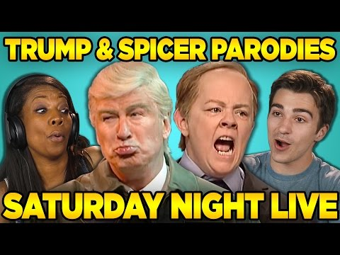 Thumbnail: Adults React to SNL: Trump & Spicer Sketches (Saturday Night Live)