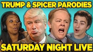 Adults React to SNL: Trump & Spicer Sketches (Saturday Night Live)