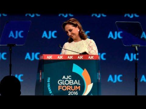 """""""Los pioneros no conciben fronteras"""", Canciller  Ruiz Massieu  en el American Jewish Committee"""