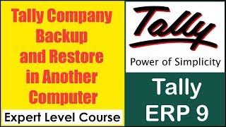 How to Make Tally Company Backup and Restore in Another Computer