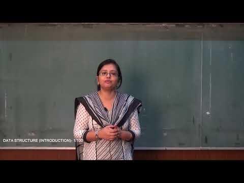 DATA STRUCTURE | LECTURE -1 | PROF. MOUMITA CHAKRABORTY | Gymkhana TV | IEM