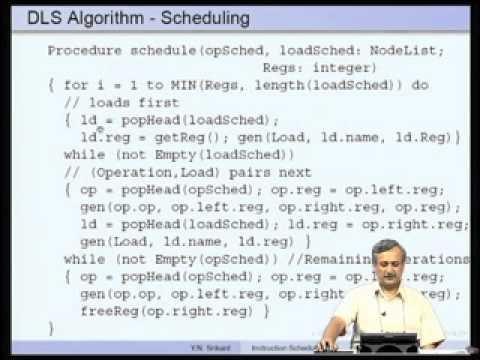 Mod-15 Lec-30 Instruction Scheduling-Part 3