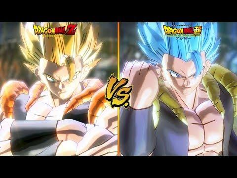 DBZ Gogeta vs DBS Gogeta | Side by Side comparison! - Dragon Ball Xenoverse 2