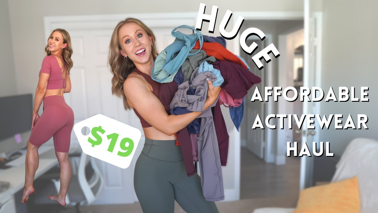 HUGE Affordable Activewear Haul! | AliExpress & Amazon