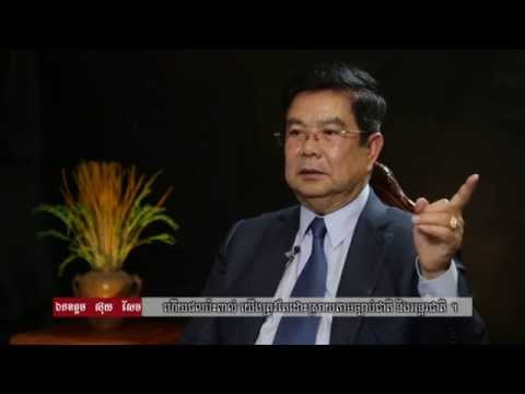 """Interviewing Mines and Energy Minister Suy Sem """"Lower Sesan 2 Hydropower Project"""""""