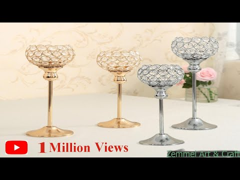 How to make DIY  Candle stand || Decorative For Home Decor || Best Out Of Waste || Showpiece