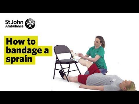 How to Bandage A Sprain - First Aid Training - St John Ambulance
