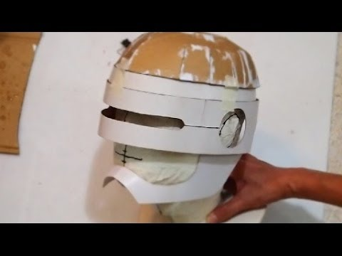 Diy Robocop Helmet Part 2 Dome Chin Guard Youtube