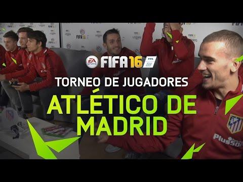 FIFA 16 - Torneo jugadores Atlético de Madrid - Griezmann, Koke, Moyá...