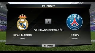 FIFA 18 REAL MADRID VS PSG XBOX ONE S PS4 PC FULL FOOTBALL MATCH GAMEPLAY HD