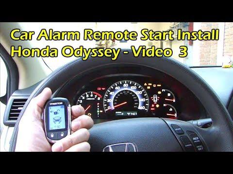 Install Car Alarm Remote Start - Bypass Module - Honda Odyssey (Video 3)