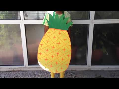 🍍 DIY Pineapple costume from paper   Super easy   Fun for kids 😊