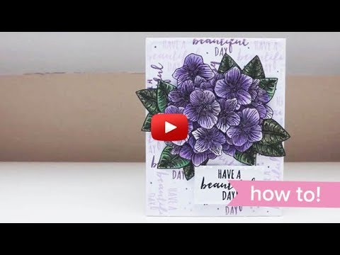 Easy Decoupaged Violets Card | Apple Blossom Crafts