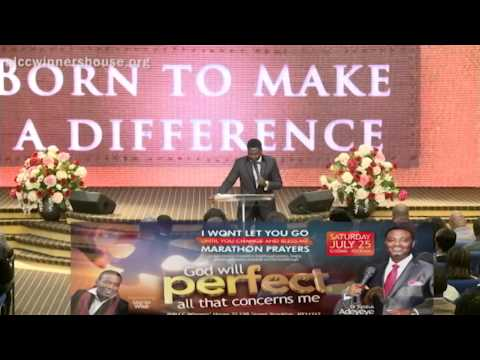 Born To Make  A Difference - Dr. Festus Adeyeye